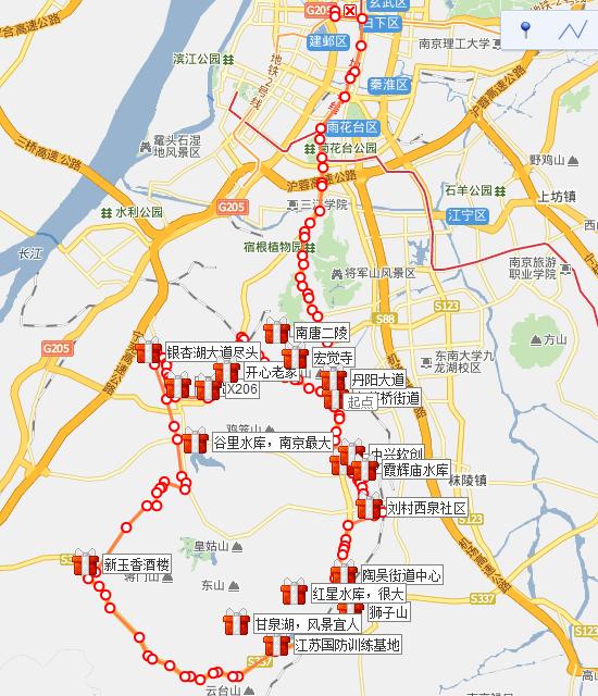 单车路线图
